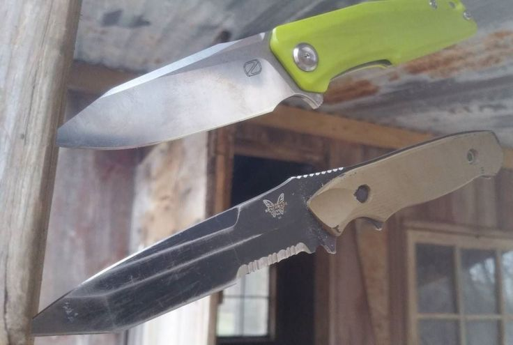 Benchmade - Stedemon and my brothers BM. The BM was actually carried in combat overseas by a marine I used to live with. #knives #benchmadeknifecompany #stedemonknives...