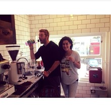 COFFEEUFEEL - It's obvious Our maître d Tim and PDM newbie Paula have had one to many coffees during training...